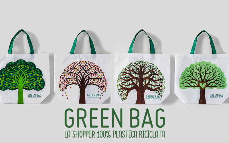 Shopper green bag